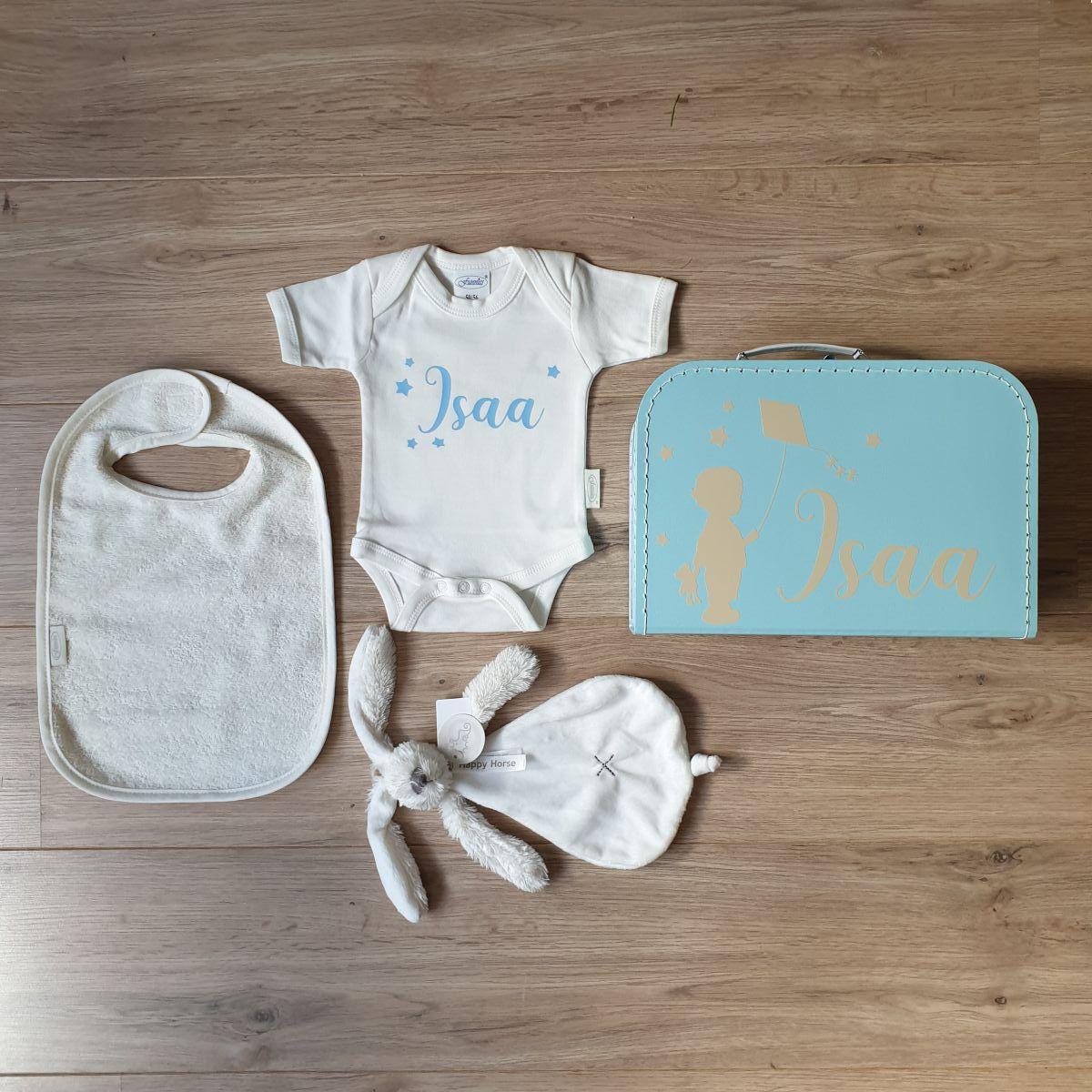 baby cadeau compleet gepersonaliseerd