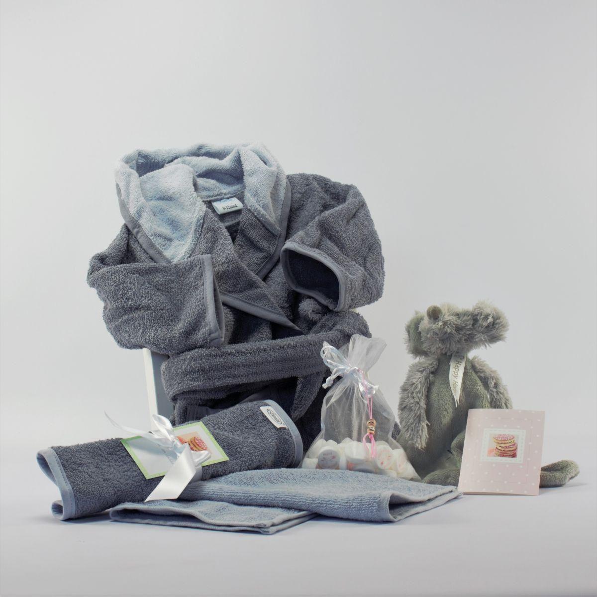 babypakket vertroetelend grijs