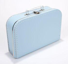 Koffertje effen blauw 25 cm