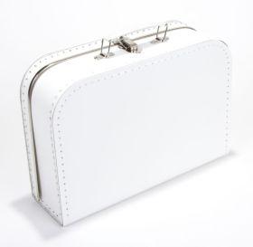 Koffertje wit 30 cm