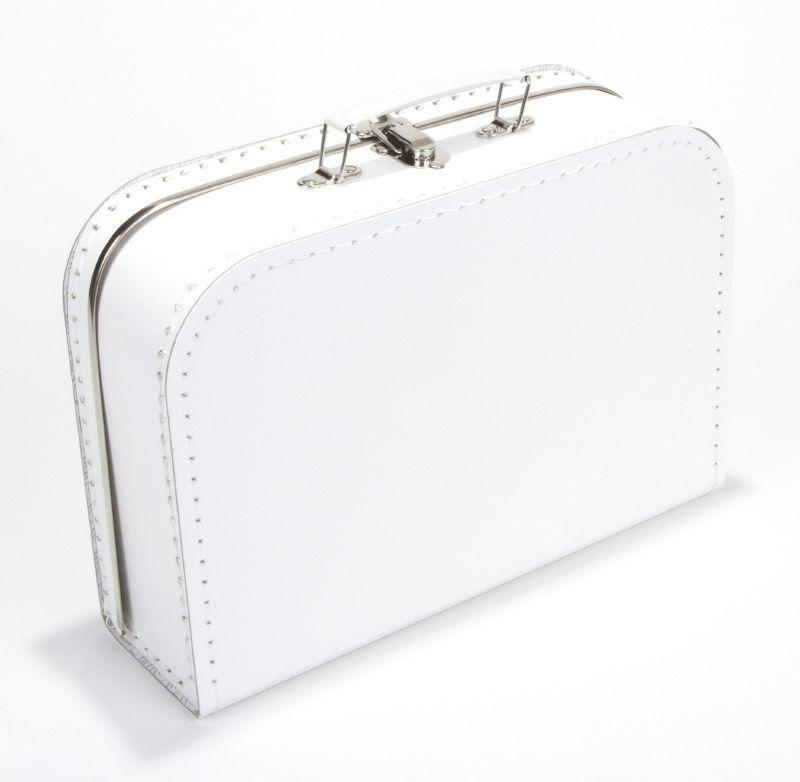 koffertje wit effen 35 cm