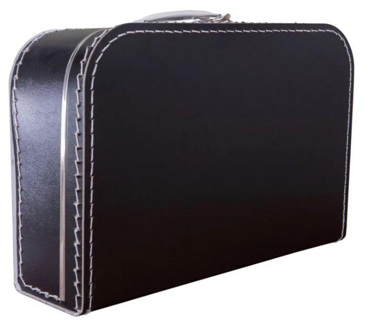 koffertje zwart 25 cm